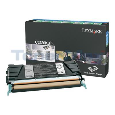 LEXMARK C524 TONER CARTRIDGE BLACK RP